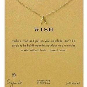 ✨Wish Dogeared gold dipped necklace✨